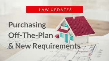 Law Updates - Off-The-Plan